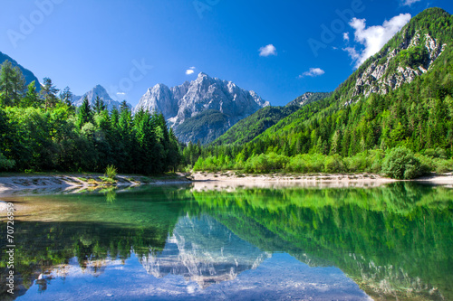 Valley in the Triglav National Park, Julian Alps, Slovenia - 70726959