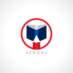 Books and Pencil, education symbol