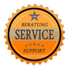ql36 QualityLabel - Beratung Service Support - orange g1811