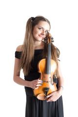 portrait with violin