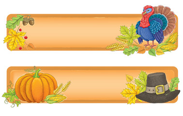 Thanksgiving banners.