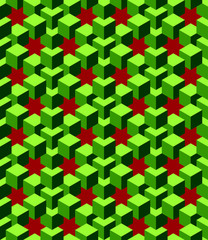 abstract green cubes