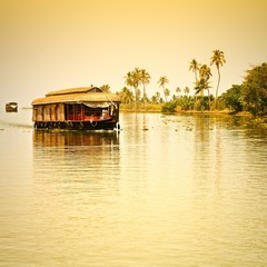 Traditional Inian house boat