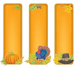 Thanksgiving vertical banners