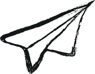 paper airplane doodle charcoal
