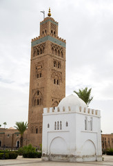 Koutubia mosque in Marrakesh, Morocco