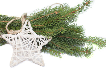 White star and Christmas tree