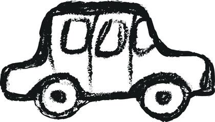 car simple doodle charcoal