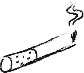 cigarette burns icon doodle charcoal