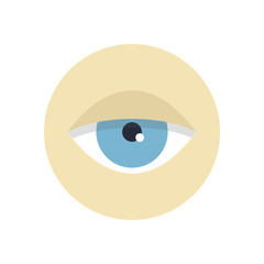 Flat modern vector icon: eye.