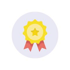 Flat modern vector icon: rosette.