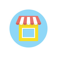 Flat modern vector icon: shop.
