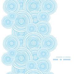 Vector doodle circle water texture vertical frame seamless