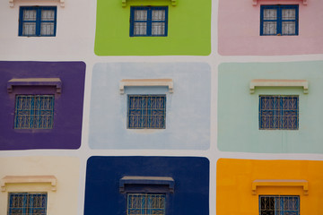 Muliti coloured house in Agadir