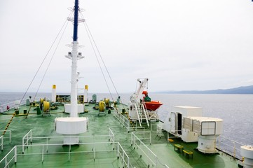 deck of the transport ship