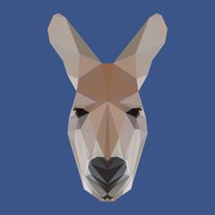 polygonal kangaroo background