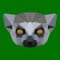 polygonal lemur background