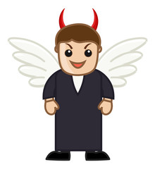 Devil Man - Vector Character Cartoon Illustration