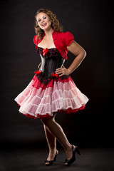 brunette pinup style