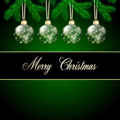 Weihnachten Hintergrund grün gold