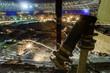 Leinwanddruck Bild - Great sport stadium construction