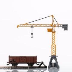 toy crane and rail car