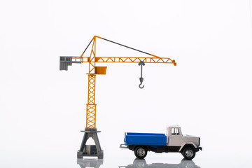 toy crane and car two