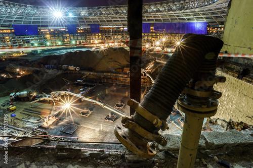 Leinwanddruck Bild Great sport stadium construction