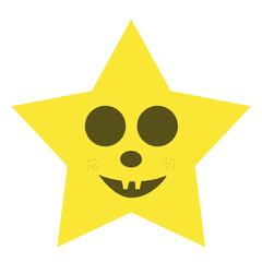 Halloween estrella star amarilla