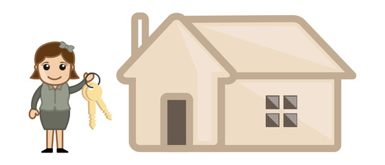Mortgage - Real Estate Concept - Vector Illustration