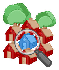 Buy a House - Real Estate Concept - Vector Illustration