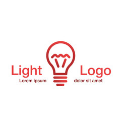 Light logo, idea logotype
