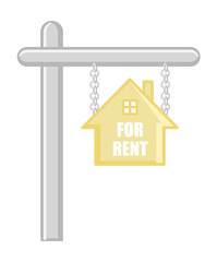 For Rent - Real Estate Concept