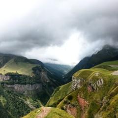 Cliffs at kazbeg