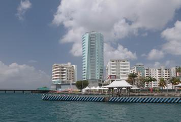 City on seashore. Fort-de-France, Martinique
