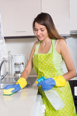 young  woman in apron