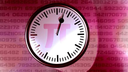 Die Pi Uhr red