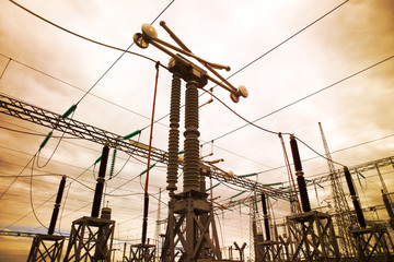 Electric substation in Chile