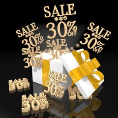 noble christmas present with Christmas sale 30 percent off icon