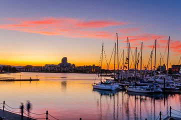 Sunset over a Harbour