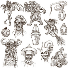 Halloween - An hand drawn pack on white
