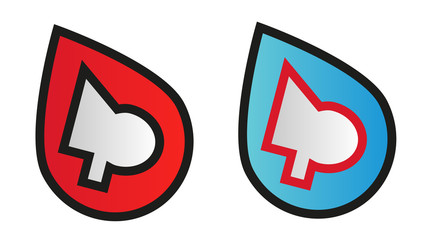 Abstract logo design symbol in two color variants