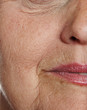 old wrinkled face close up
