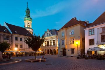 The main square in Sopron