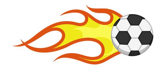 Cartoon Vector - Burning Flame Football