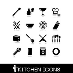 Kitchen accessories - Set icons