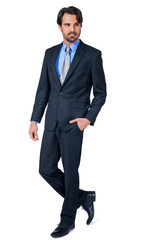 Confident relaxed business executive