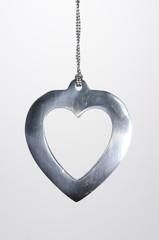 Christmas Ornament Metal Heart