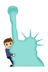 Cartoon Vector - Statue of Liberty