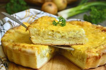Onion pie.